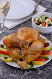 Turkey and garnishes stock photos