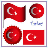 Turkey graphic set Royalty Free Stock Photos