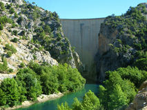 Turkey. Green Canyon. Dam Royalty Free Stock Image
