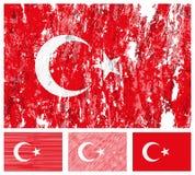 Turkey grunge flag set Stock Photo