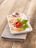 Turkey Ham Canapes Royalty Free Stock Images