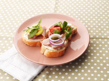 Turkey Ham Canapes Stock Image