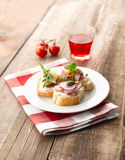 Turkey Ham Canapes Royalty Free Stock Image