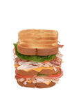 Turkey and ham club sandwich Royalty Free Stock Images