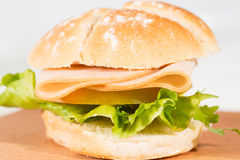 Turkey ham sandwich Royalty Free Stock Photos