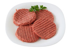 Turkey hamburgers with parsley Stock Images