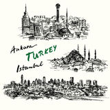 Turkey - hand drawn collection Royalty Free Stock Photography