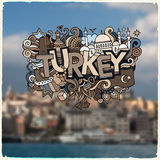 Turkey hand lettering and doodles elements Royalty Free Stock Photography