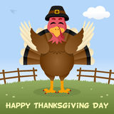 Turkey Happy Thanksgiving Day Card Stock Image