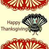 Turkey Happy Thanksgiving holiday background Stock Photography