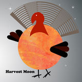 Turkey harvest moon Stock Photo