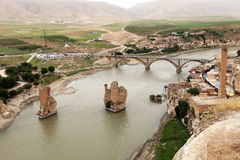 Turkey. Hasankeyf village (Southeastern Anatolia). Aerial view f Stock Photo