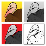 Turkey head Illustration Royalty Free Stock Images