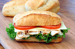 Turkey Hero Sandwich Stock Images
