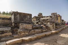 Turkey Hierapolis (Pamukkale). Antique burials in the necropolis Royalty Free Stock Images