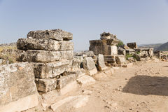 Turkey Hierapolis (Pamukkale). Tombs and sarcophagi in the ancient necropolis Royalty Free Stock Photography