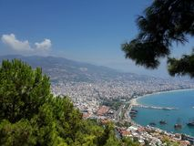 Turkey. Hill in the turkey, view for beach and sea royalty free stock photography