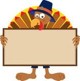 Turkey Holding Sign Stock Photo