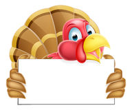Turkey Holding a Sign Stock Photography