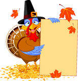 Turkey with Holiday Note Stock Photo