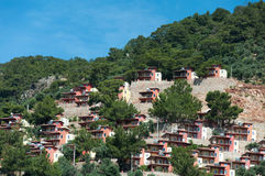 Turkey. The hotel is on  hillside Royalty Free Stock Images