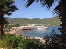 Turkey Iclemer Beach and Harbour Royalty Free Stock Photography