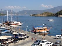 Turkey Icmeler Harbour and Boats Royalty Free Stock Photography