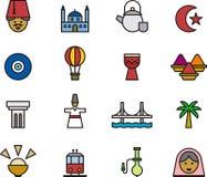 Turkey icon set Stock Image