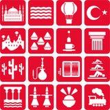 Turkey icons Stock Photo