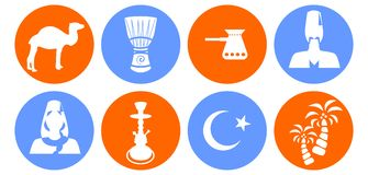 The turkey icons Royalty Free Stock Photography