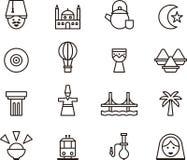 Turkey icons Stock Image
