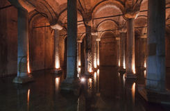 Turkey, Istanbul, the Basilica Cistern Stock Image