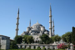 Turkey. Istanbul. Blue mosque. In spring Royalty Free Stock Photo