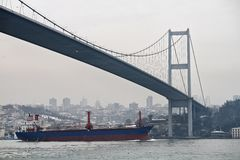 Turkey, Istanbul, Bosphorus Channel Stock Images