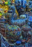 Ceramic vases and jugs at the Grand Bazaar stock photo