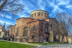 The Church of St. Irene - one of the earliest surviving churches royalty free stock image