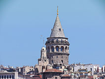Turkey istanbul galata tower historic building Royalty Free Stock Photography