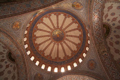 Turkey. Istanbul. Inside of the Blue mosque Royalty Free Stock Image