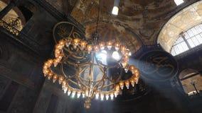 Interior design the interior of the old mosque of Hagia Sophia. Turkey, Istanbul - 5 June 2019: interior design the interior of the old mosque of Hagia Sophia on stock footage
