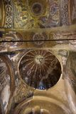 Murals under the dome in the Church of the Holy Savior Outside the Walls. Second name of it now is The Kariye Museum in Istanbul,. Turkey, Istanbul 14,03,2018 royalty free stock photo