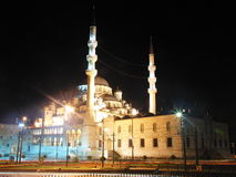 Turkey istanbul night. Mosque light istanbul Stock Photography