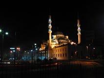 Turkey istanbul night. Mosque light istanbul Stock Photo