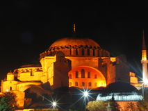 Turkey istanbul night. Mosque night light sultan ahmet çeşme Royalty Free Stock Image
