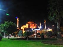 Turkey istanbul night. Mosque night light sultan ahmet çeşme Stock Photography
