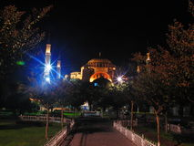 Turkey istanbul night. Mosque night light sultan ahmet çeşme Royalty Free Stock Photo