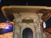 Turkey istanbul night. Mosque night light sultan ahmet cami Royalty Free Stock Photos