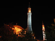 Turkey istanbul night. Mosque night light sultan ahmet cami Royalty Free Stock Photography