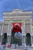 Panoramic view of the main entrance historical gate of Istanbul royalty free stock image