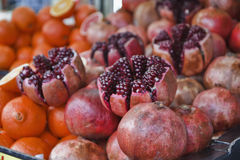 Turkey, Istanbul, pomegranates and oranges Royalty Free Stock Photo