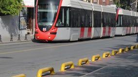 Turkey. Istanbul. Street people street travel tram. Turkey. Istanbul. Street . tram October 2017, street  people street travel tram stock video